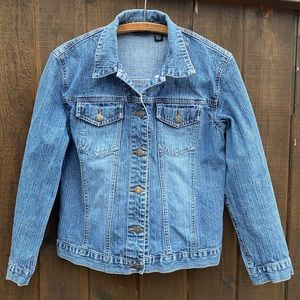 Chico's denim coat, cotton/spandex, Chico's size 0